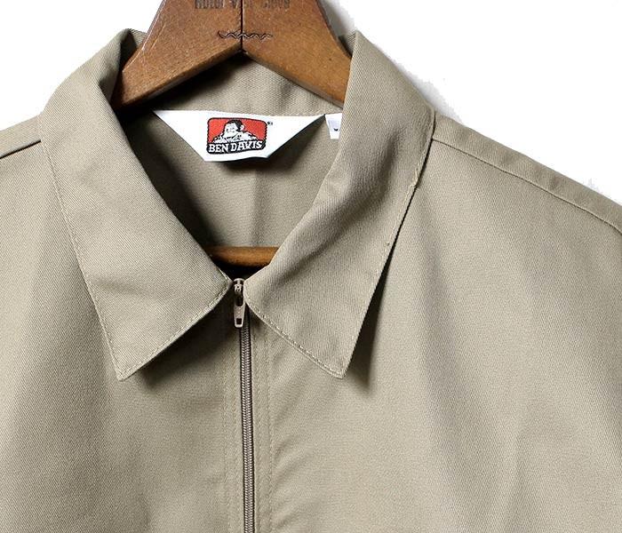 ベンデイビス/BEN DAVIS アメリカ製 長袖 ハーフジップシャツ (BDUS-208-HALFZIP-LONG)
