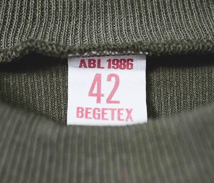デッドストック/DEADSTOCK ベルギー製 モックネック スウェットロンT ベルギー軍 1980年代製 (BELGIUM-MOCK-SWTLONGT)