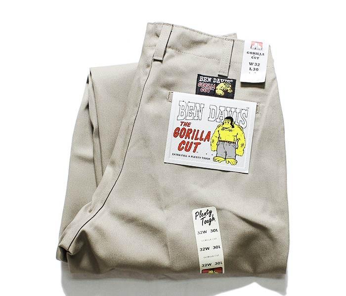 ベンデイビス/BEN DAVIS ゴリラカット 極太 ワイドストレート チノパン ワークパンツ GORILLA CUT PANTS (700061068-GORILLA-CUT)