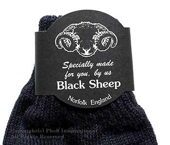[レビューでメール便送料無料]ブラックシープ/BLACK SHEEP 英国製 フィンガレスウールグローブ(FINGER LESS GLOVE)