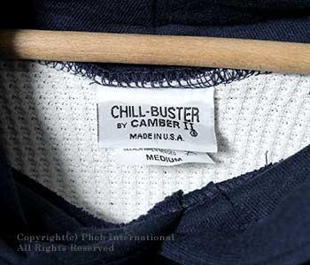 [レビューでセールプライス!][送料無料]キャンバー/CAMBER アメリカ製 ''チルバスター''14ozヘビーウエイト裏サーマルプルオーバーフードパーカー(CAMBER-532)
