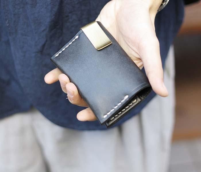 [送料無料]チャーリーボロウ/CHARLIE BORROW 英国製 OAK BARK LEATHER CARD HOLDER カードホルダー with マネークリップ (CB007-CARD-HOLDER)