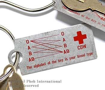 キャンディ デザイン&ワークス/CANDY DESIGN & WORKS 日本製 ''BLOOD TYPE KEYPLATE''血液型キープレート(CK-06-BLOOD)