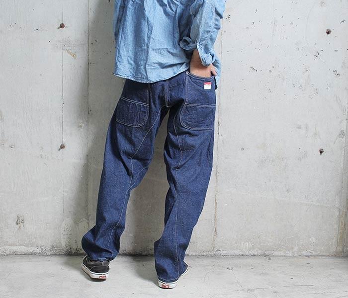 [送料無料]キャルオーライン/CAL O LINE 日本製 デニム コンフォートペインターパンツ (COMFORT-PAINTER-PANTS-OW(CL172-091))