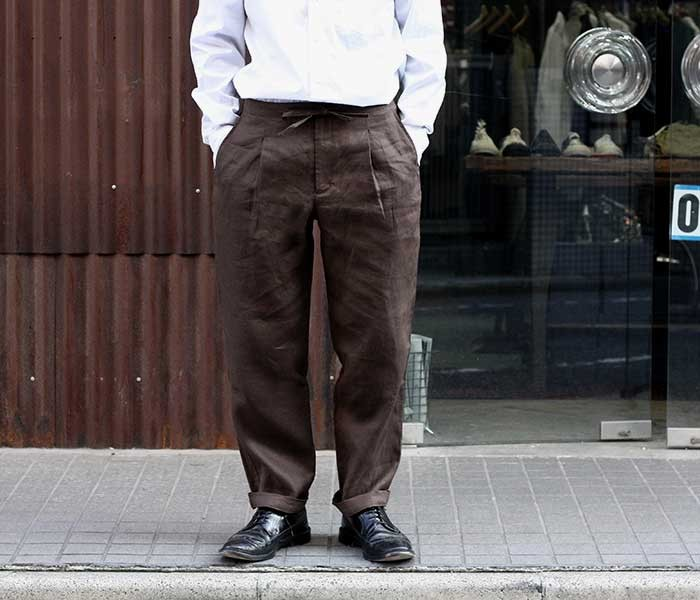 コムアーチ comm. arch. リネン イージートラウザーズ イージーパンツ 2019SS LINEN EASY TROUSERS MADE IN JAPAN (LINEN-EASY-TROUSERS-19S)