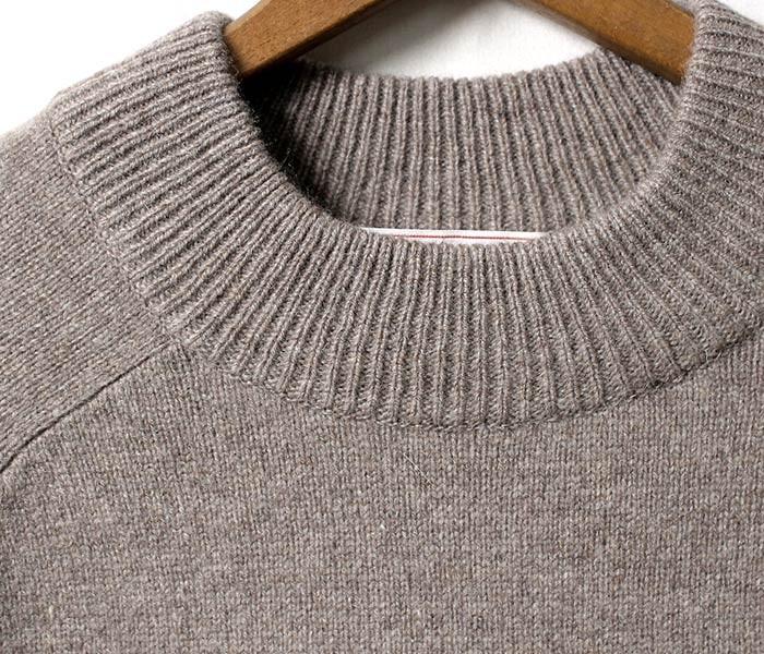 [送料無料]コムアーチ/comm. arch. by ジョーマック/JOE MC   日本製 ''手編み機'' ハンドフレームドモックネックセーター HAND FRAMED MOCK BB (HAND-FRAMED-MOCK-BB-17W)