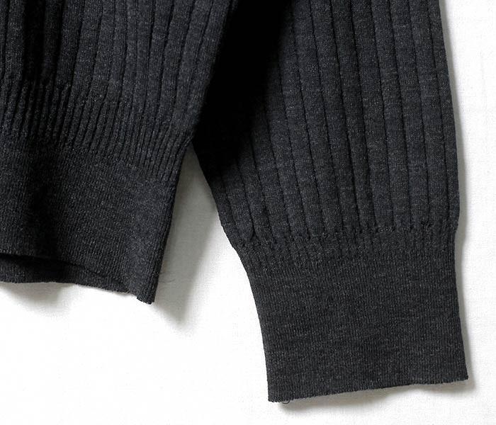 [送料無料]コムアーチ/comm. Arch. By ジョーマック/JOE MC   日本製 ニードルアウトリブ 針抜きリブ ハイネック タートルネック セーター ニット NEEDLE OUT RIB HIGH-NECK (NEEDLE-OUTRIB-HINECK-17W)