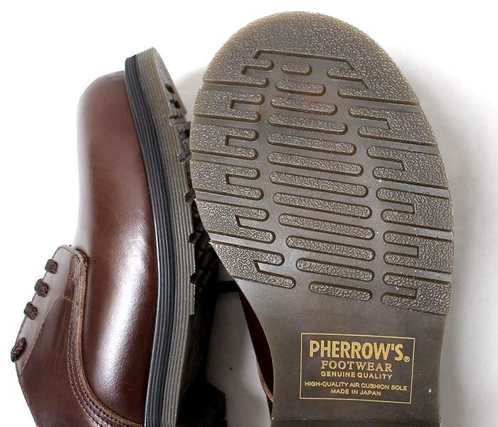 [送料無料]フェローズ/PHERROW'S(PHERROWS) 日本製 ''ダークブラウン'' スチールキャップ キャップド ダービーシューズ レザーシューズ (CAPPED-DERBY-BROWN-STEELCAP)