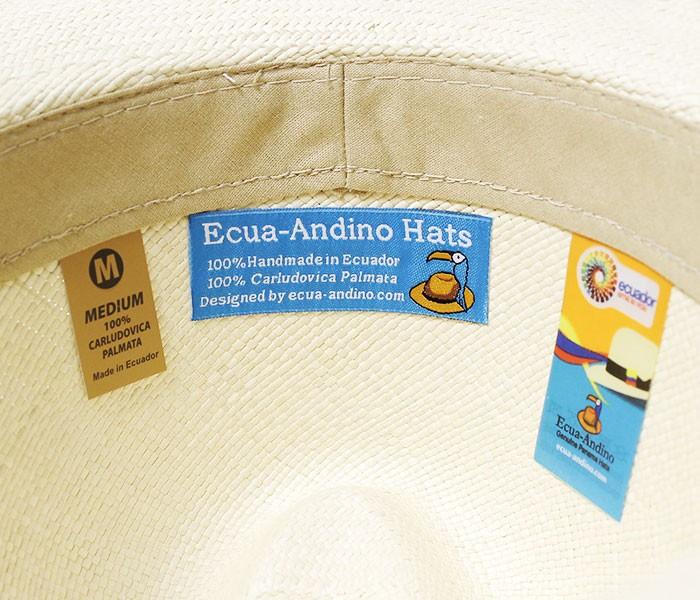 エクアアンディーノ/ECUA-ANDINO エクアドル産 ハンドメイド クラシックパナマハット(ClASSIC)