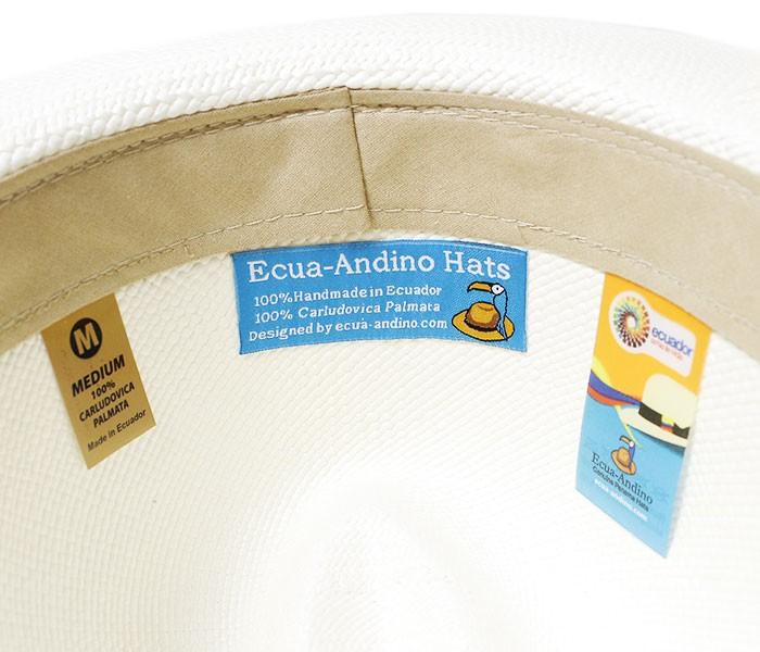 エクアアンディーノ/ECUA-ANDINO エクアドル産 ハンドメイド ロングブリム クラシックパナマハット (ClASSIC-LONG)