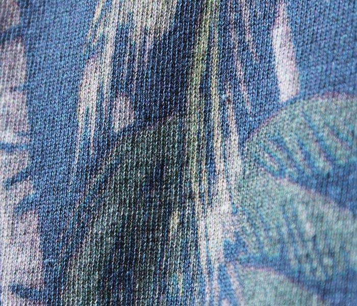 [送料無料]フィルメランジェ/FILMELANGE 日本製 オハナ アロハ柄 プリントTシャツ ポケT (FM-OHANA)