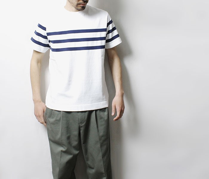 [送料無料]フィルメランジェ/FILMELANGE 日本製 オーソン パネルボーダーTシャツ (FM-ORSON)