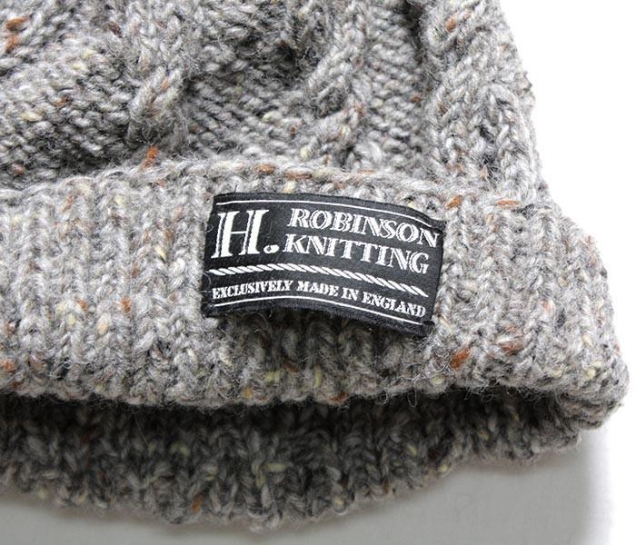 H.ロビンソンニッティング/H. ROBINSON KNITTING by ジョーマック/JOE MC 英国製ハンドニッティングニットキャップ【14W-HANDKNITTED-HAT】