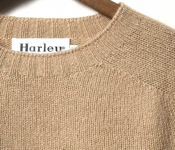 ハーレー オブ スコットランド HARLEY OF SCOTLAND 英国製 ''スーパーソフト'' シェトランド ニット セーター (HARLEY-2474-7-SUPERSOFT)