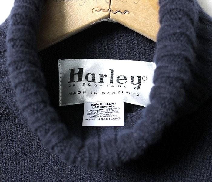 ハーレーオブスコットランド/HARLEY OF SCOTLAND 英国製 ''2 PLY GEELONG'' タートルネックニット・セーター(HARLEY-M3116-5)