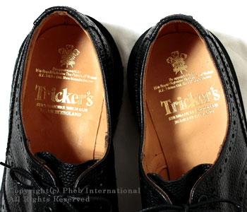 トリッカーズ/TRICKER'S×フェブ/PHEB フェブ・アンドフェブ別注''BURTON(バートン)''ウィングチップシューズ【M5633 BURTON BLK SCT】