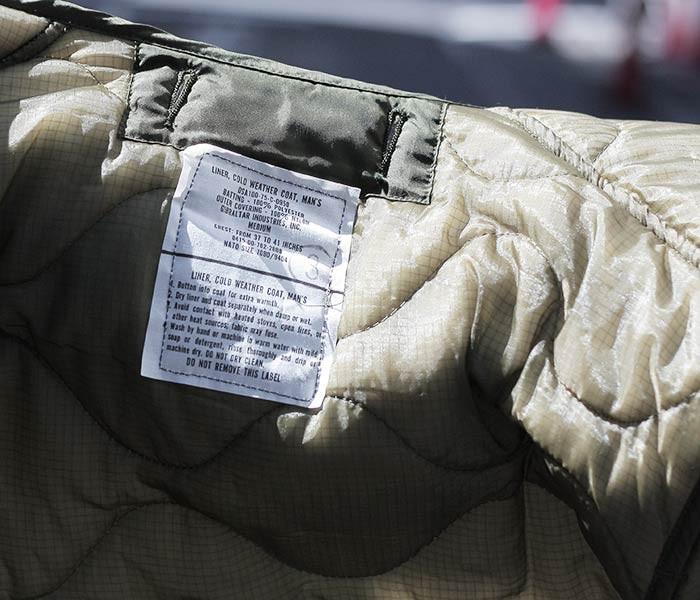 デッドストック/DEADSTOCK アメリカ製 ''MEDIUM'' 米軍 70's M-65 キルティングライナー (US-ARMY-QUILTING-LINER-MED)