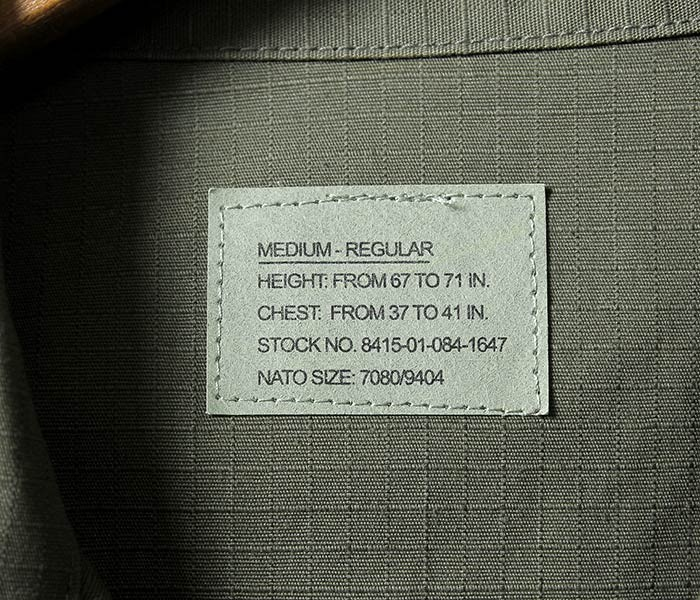 デッドストック/DEADSTOCK アメリカ製 MIL-TEC(ミルテック社製) BDU コンバットジャケット リップストップ (MIL-TEC-BDU-RIP-OLIVE)