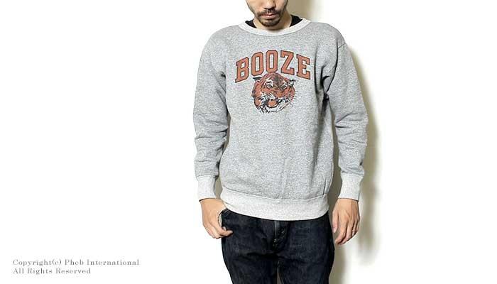 [送料無料]ミクスタ/MIXTA アメリカ製''BOOZE TIGER''クルーネックスウェット【MXA1500-BOOZE】