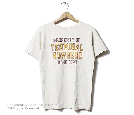 ミクスタ/MIXTA アメリカ製 ''THERMINAL NOWHERE''プリントTシャツ(MXA-107-THERMINAL NOWHERE)