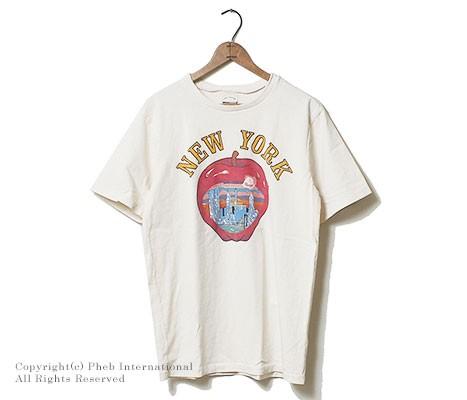 ミクスタ/MIXTA アメリカ製 ''BIG BIG APPLE''プリントTシャツ(MXA-1701-R1609-BIG-BIG-APPLE)