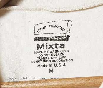 ミクスタ/MIXTA アメリカ製 ''WILD KAT''プリントTシャツ(MXA-1701-R1602-WILD-KAT)