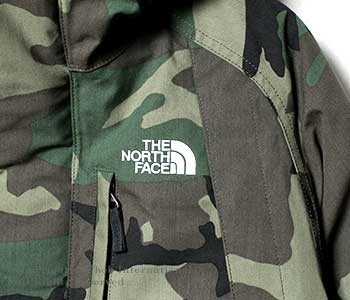 [送料無料]ザ・ノースフェイス/THE NORTH FACE ''ウッドランドカモ''ノベルティエレバスジャケット/NOVELTY ELEBUS JACKET ダウンパーカー(ND91535)