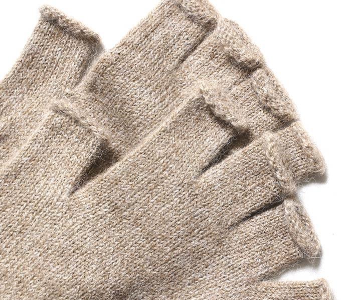 [メール便送料無料]ニーフ/NEAFP アメリカ製 Alpaca Fingerless Gloves アルパカ フィンガーレス グローブ 手袋 (NFP-W80-FINGERLESS-G)