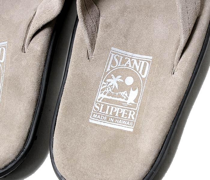 [送料無料]アイランドスリッパ/ISLAND SLIPPER アメリカ製 ''ブラックソール''スウェードサンダル(PB203-SUEDE)