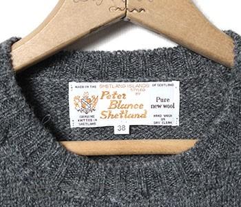 ピーターブランス/PETER BLANCE 英国製 シェットランド クルーネックセーター・ニット(CREW SWEATER)