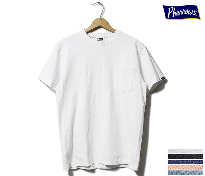 フェローズ PHERROW'S ポケT Tシャツ ポケット付き (PPT-PLAIN)