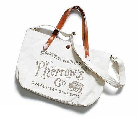 [送料無料]フェローズ/PHERROW'S(PHERROWS) 日本製 キャンバス ショルダーストラップ付 トートバッグ(PSBG1)
