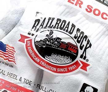 レイルロードソック/RAILROAD SOCK アメリカ製 ''6P QUARTER''クォーターソックス/靴下(MEN'S 6 PAIR QUARTER SOCK-GREY HEEL&TOE(6068))