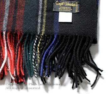[送料無料]ロイヤルヘザー/ROYAL HEATHER by ジョンストンズ/JOHNSTONS ''BLACK STEWART(KU0324)''英国製ラムズウールストール【ROYALHEATHER-STOLE-KU0324(WD000127)】