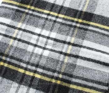 [送料無料]ロイヤルヘザー/ROYAL HEATHER by ジョンストンズ/JOHNSTONS 英国製 ''GREY STEWART WITH Y(VU9032)''ラムズウールストール(ROYALHEATHER-STOLE-VU9032(WD000127))