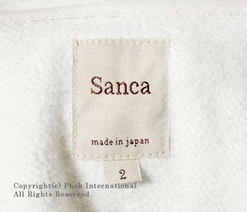 サンカ/SANCA 吊り裏毛フルジップパーカー【SANCA-FULLZIP-PARKA】