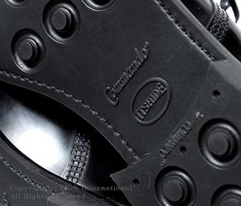 [送料無料]サンダース/SANDERS 英国製''ブラック''パンチドキャップダービーシューズ(1129-BLACK)