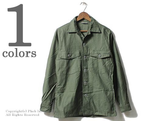 [送料無料]デッドストック/DEADSTOCK アメリカ製 1970年代製 OG-107 コットンサテン ファティーグシャツ (OG107-FATIGUE-SHIRT)