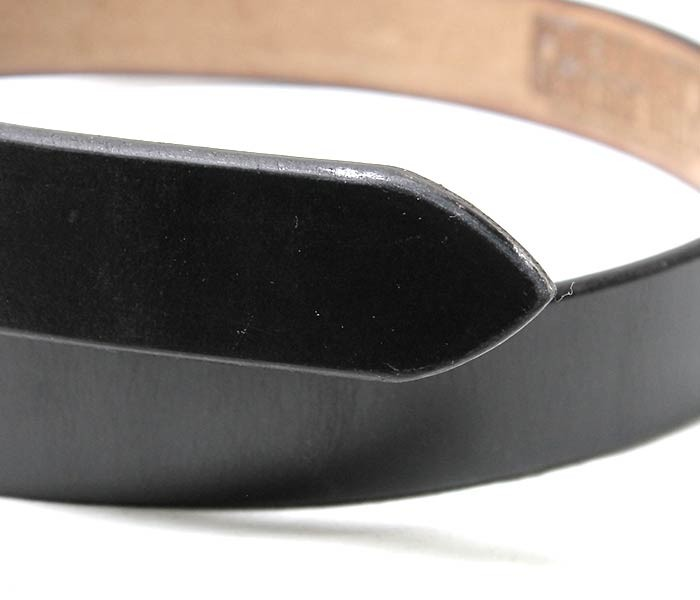 [送料無料]フェローズ/PHERROW'S(PHERROWS) 日本製 ''ブラスバックル'' 細身シングルピン レザーベルト UKサドルレザー (17W-SBB4-BRASS-SHARP)