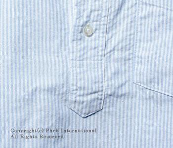 セロ/SERO カナダ製半袖ストライプボタンダウンシャツ【SERO-3S】