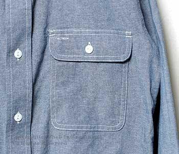 [送料無料]セロ/SERO アメリカ製 ワークシャンブレーシャツ(SR-02)