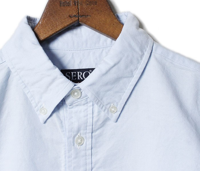 セロ/SERO 日本製 半袖 プルオーバー オックスフォード ボタンダウンシャツ (SERO-OXFORD-SS-JP(SR70-OX621M))