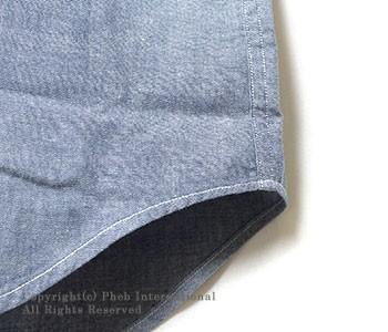 セロ/SERO アメリカ製半袖シャンブレーボタンダウンシャツ(SR-01CHSS)