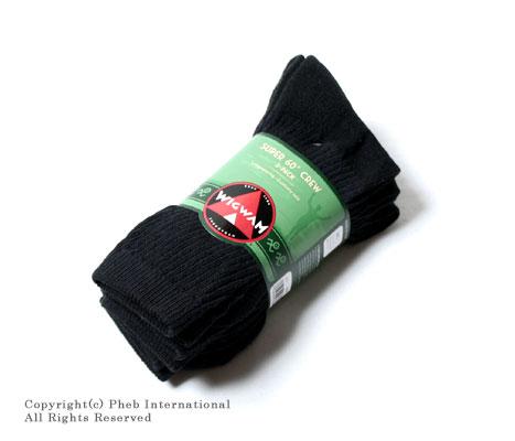 ウィグワム/WIGWAMアメリカ製''スーパー60''3パッククルーソックス/靴下【SUPER 60 CREW 3-PACK】 [あす楽対応]