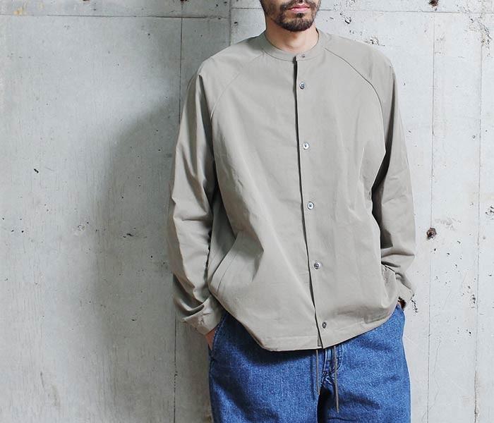 [送料無料]サヴィー/salvy; 日本製 ノーカラー コーチジャケット NECKBAND CORCH SHIRT JKT (SV05-5217CM)