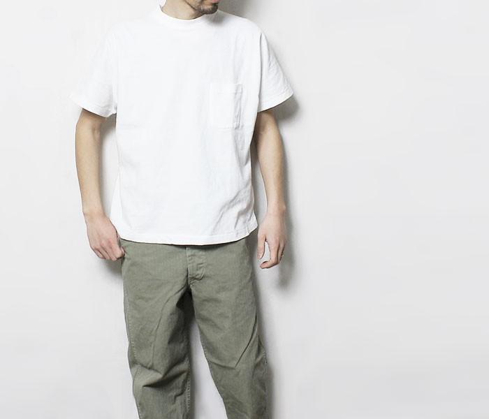 [送料無料]サヴィー/salvy; 日本製 ハイツイスト タンザニアコットン プレーンTシャツ ポケT HIGH TWISTED TANZANIA COTTON TEE (SV07-3517A)