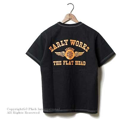 フラットヘッド/THE FLAT HEAD 日本製 ''EARLY WORKS''Tシャツ(THC-66W)