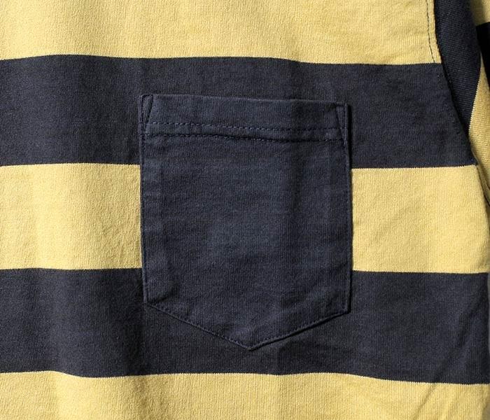 トイズマッコイ/TOYS McCOY 日本製 ''ネイビー'' ボーダーポケットTシャツ ポケT (TMC1736)