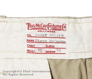 トイズマッコイ/TOYS McCOY ''McQUEEN TROUSERS''マックイーンチノパンツ 【TMP8602】