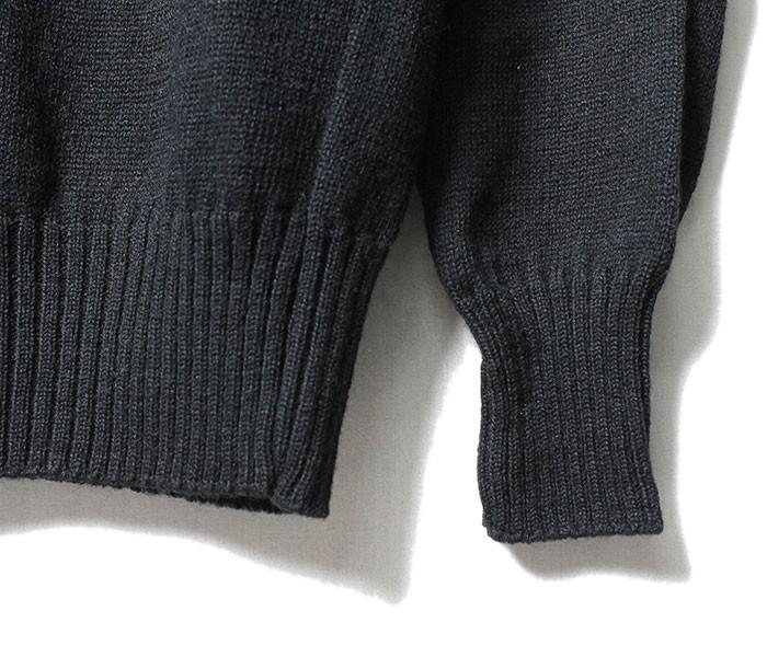 デッドストック/DEADSTOCK アメリカ製 80's US NAVY ウール100% モックネック ゴブ セーター (1980-USN-GOB-SWEATER)